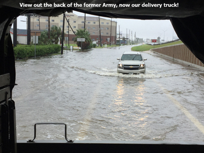Flooded Roads in Galveston County